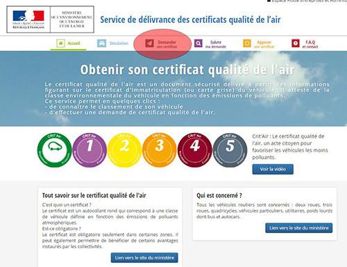 Aanvraag milieuvignetten Frankrijk