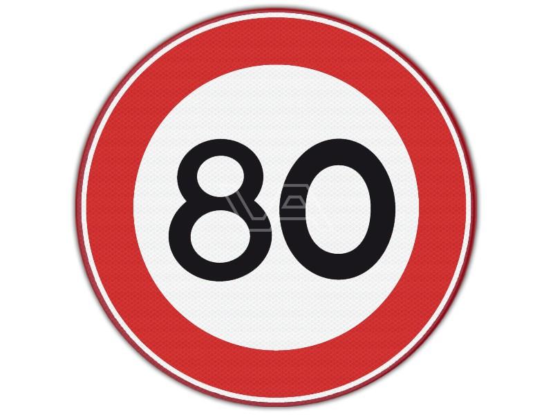 Verkeersbord 80 in Frankrijk