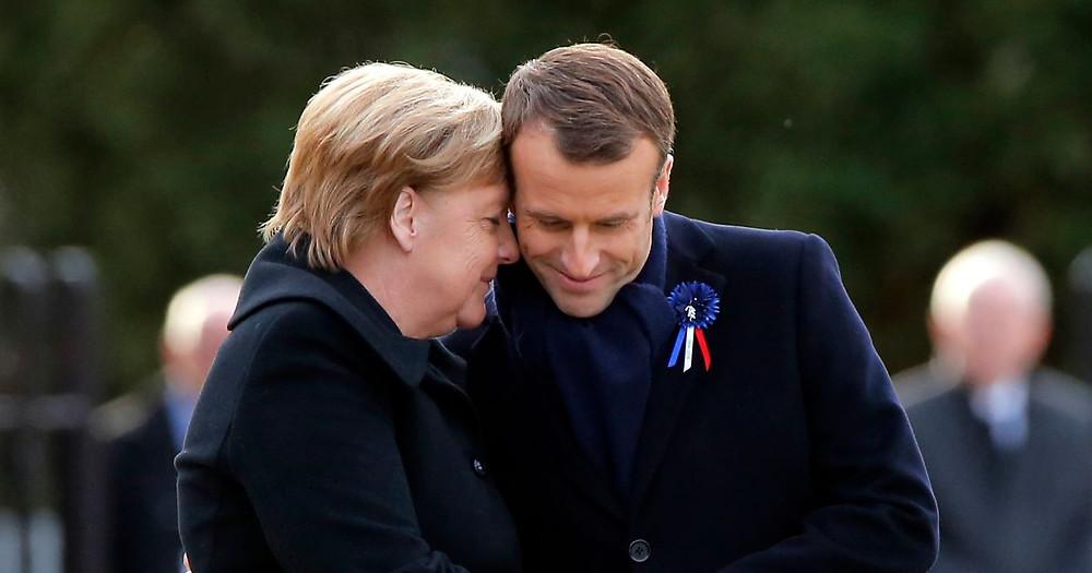 Macron en Merkel