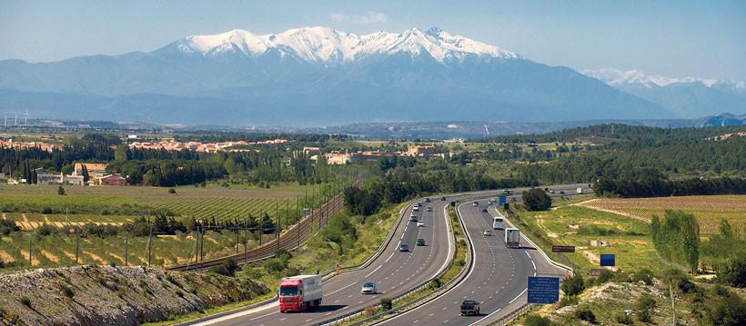 L'autoroute A7 Narbonne - Perpigan