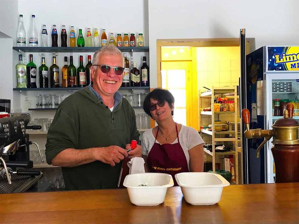 Brigitte et Benoit van café La Farga