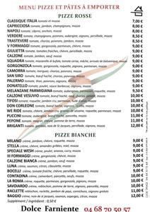 Menu Pizzeria Dolce Farniente