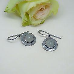 Zilveren oorbellen met aquamarijn edelstenen