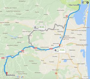 Routebeschrijving Tilley France naar Baillestavy
