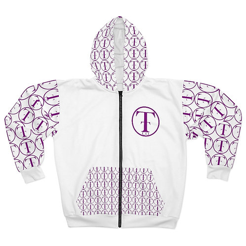 TNTCO Unisex Zip Hoodie (Purple)