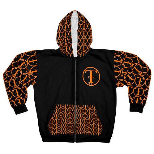 TNTCO Unisex Zip Hoodie (Orange)