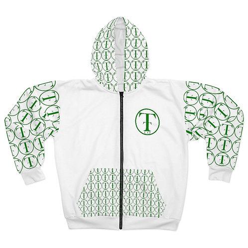 TNTCO Unisex Zip Hoodie (Green)