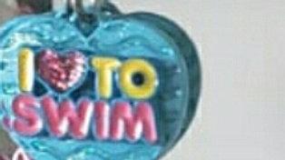 I Love To Swim Charm