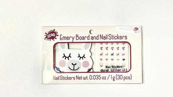 Llama Emery Board & Nail Stickers