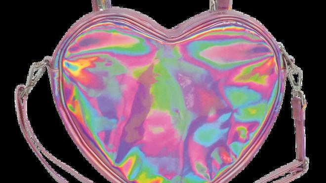 Pink Holo Heart Bag