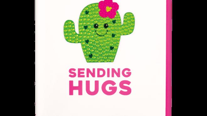 Sending Hugs Rhinestone Decal Notecards & Envelopes