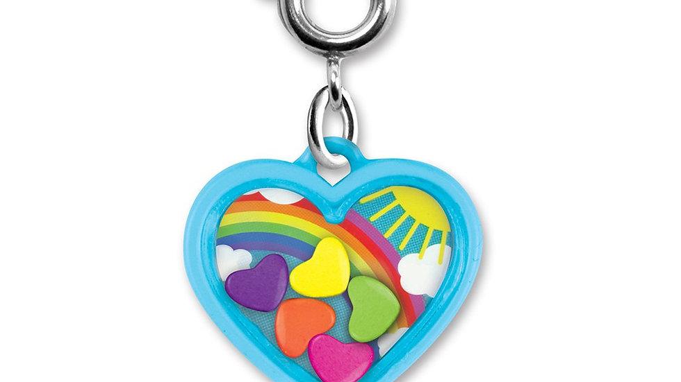Rainbow Heart Shaker Charm