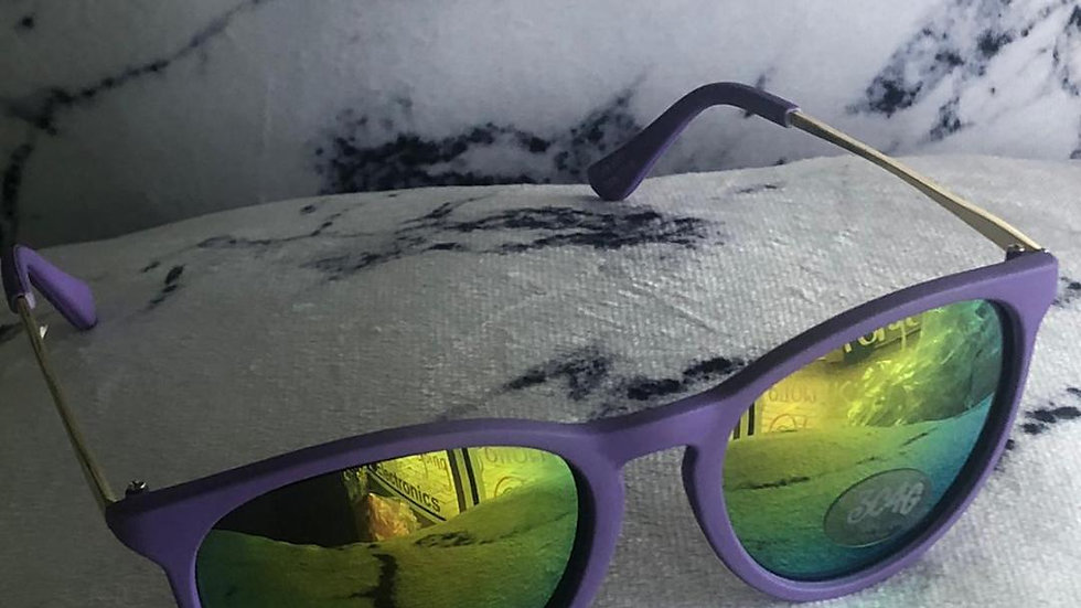 Purple Matte Frame Sunglasses