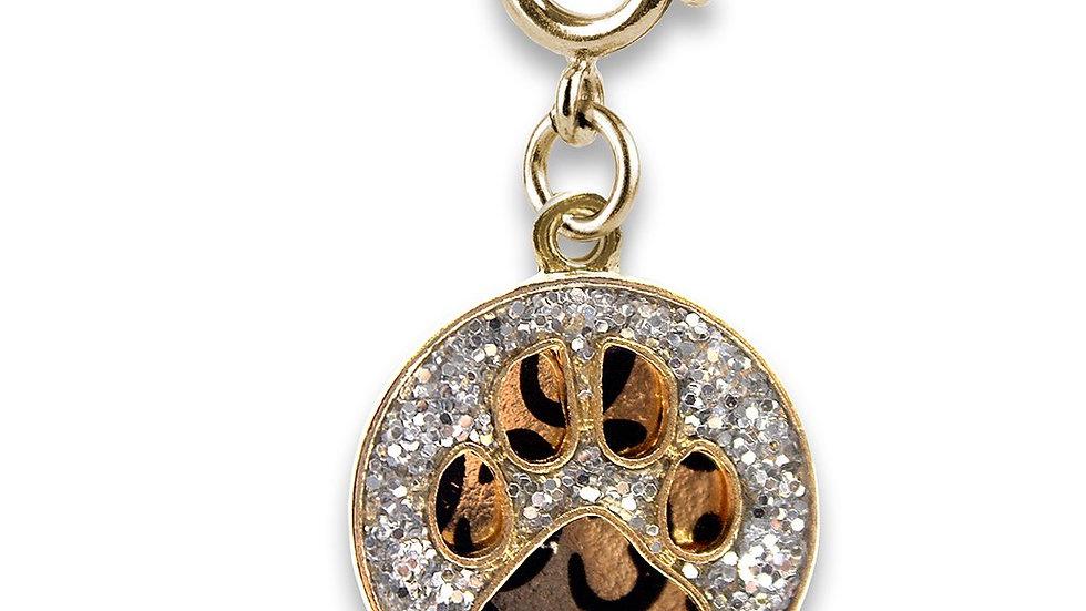 Gold Swivel Leopard Paw Print