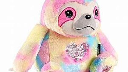 Sloth Rainbow Sequin Heart