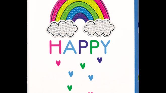 Rainbow Rhinestone Decal Greeting Card