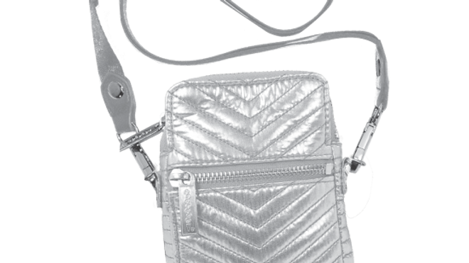 Silver Chevron Cell Phone Bag