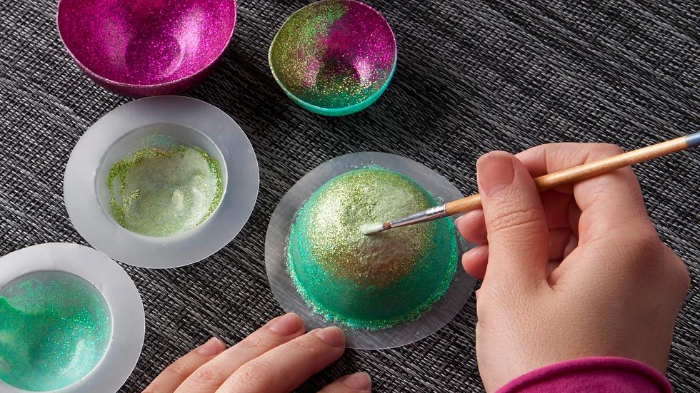 Craft-Tastic Mini Glitter Bowl Kit