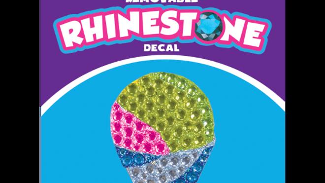 Snow Cone Rhinestone Decal