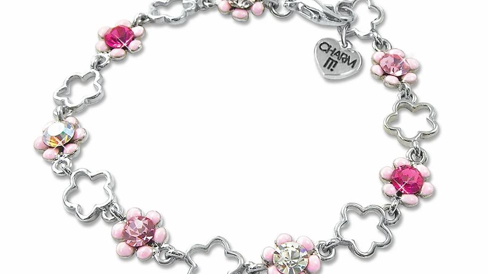 Pink Flower Bracelets