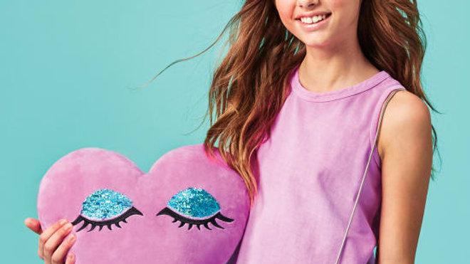 Heart Eye Reversible  Pillow