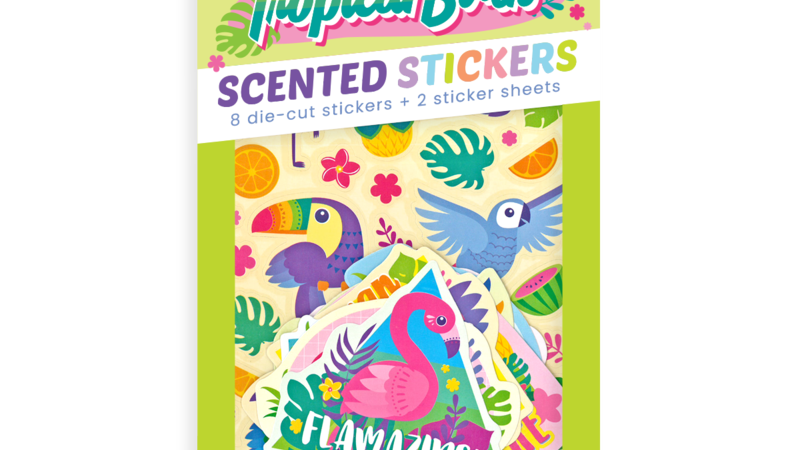 Scented Scratch Stickers Tropical Birds