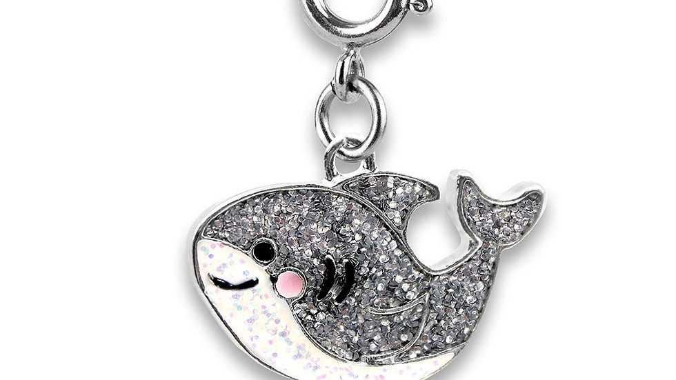 Glitter Shark Charm