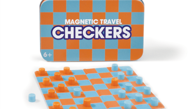 Checkers Magnetic Tin Travel Game