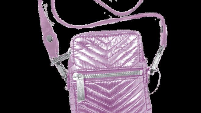 Pink Chevron Cell Phone Bag