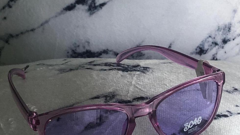Lilac Transparent Sunglasses