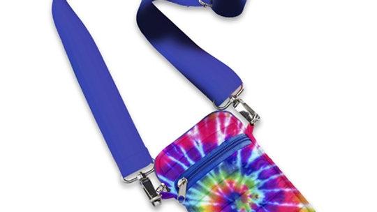Spiral Tie Dye Puffer Cell  Phone Bag