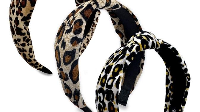 Knot Headband -Leopard