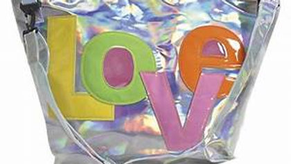Love Patch Silver Holographic Weekender