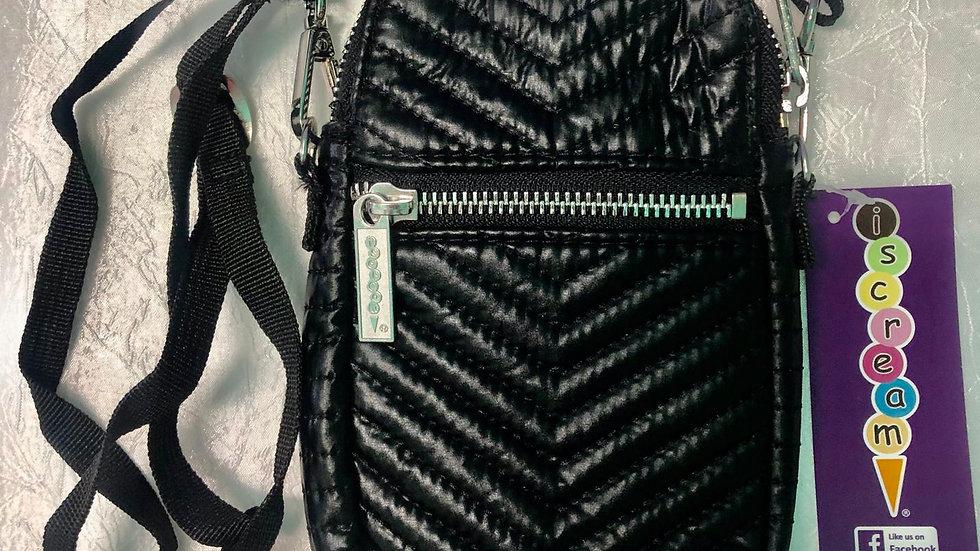 Iscream Black Chevron Cell Phone Bag