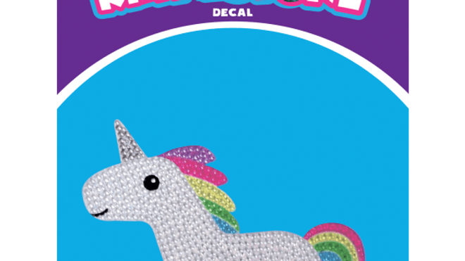 Rainbow Unicorn Rhinestone Decals