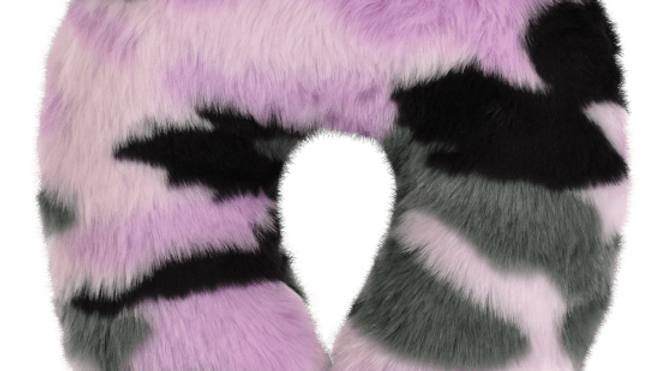 Purple Camo Furry Neck