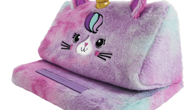 Caticorn Furry Tablet Pillow