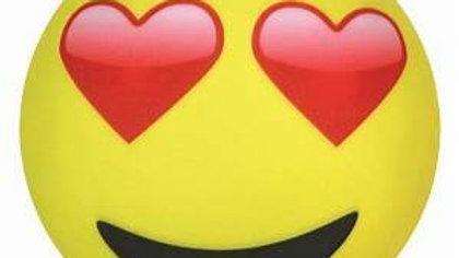 Heart Eyes Emoticon Pillow