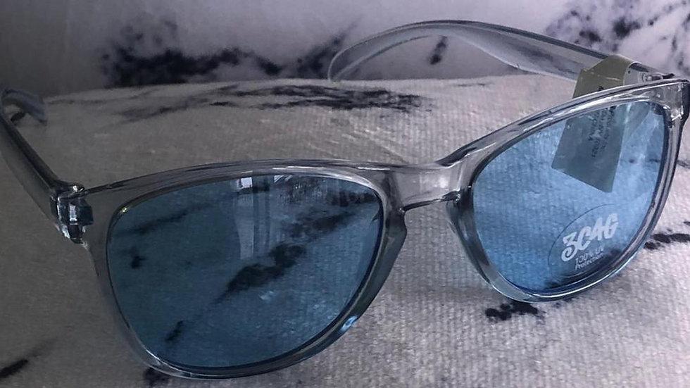 Blue Transparent Sunglasses
