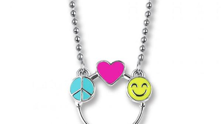 Peace Love & Happiness Charm Catcher Necklace