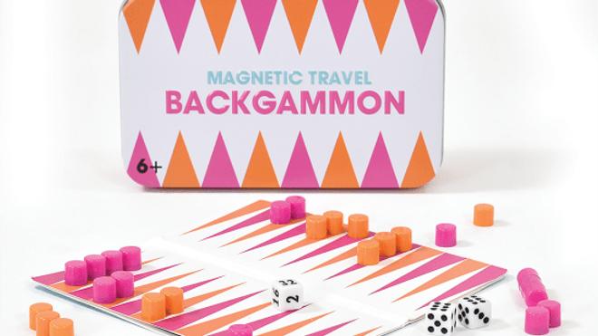 Backgammon Magnetic Tin Travel Game