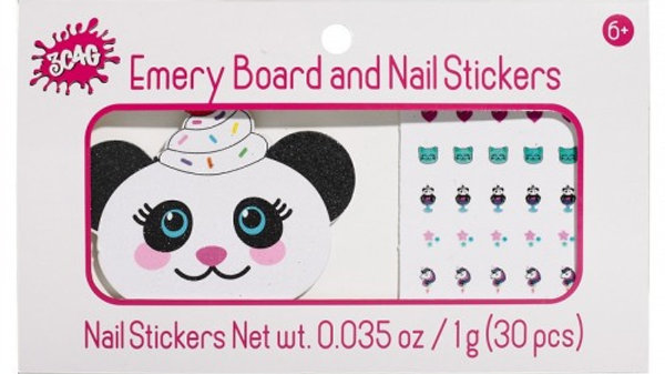 Panda Emery Board & Nail Stickers