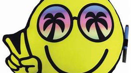 Smiley Face With Palm Tree Glasses Pillow