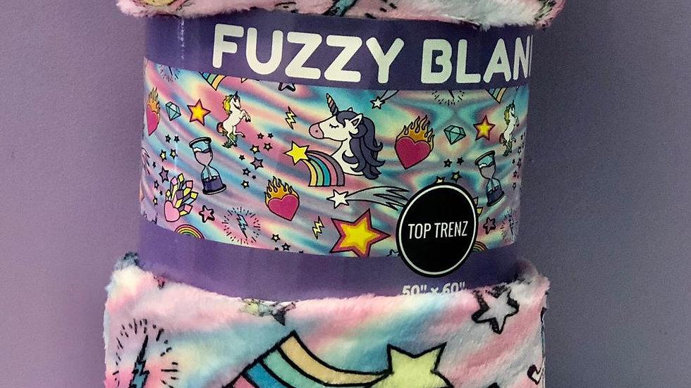 Top Trenz Unicorn Coutoure Plush Blanket