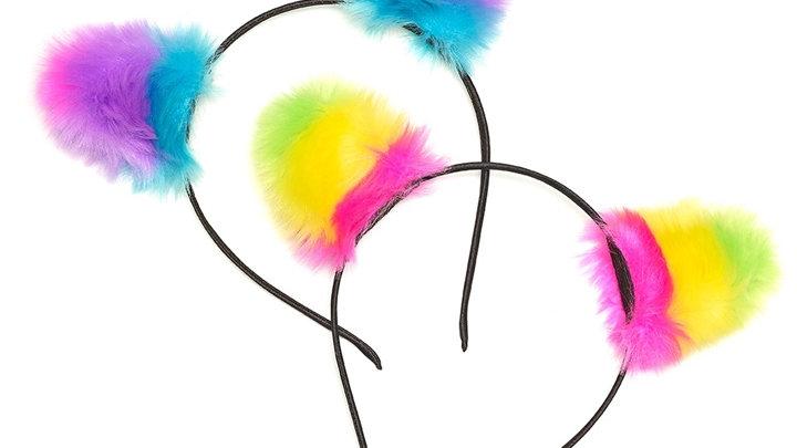 Pom Pom Cat Ear Headbands