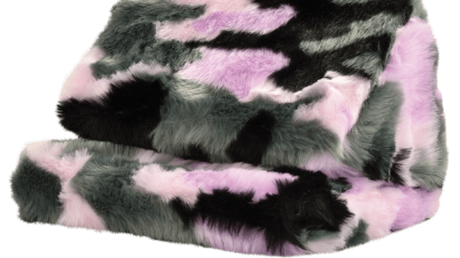 Purple Cameo Furry Tablet Pillow
