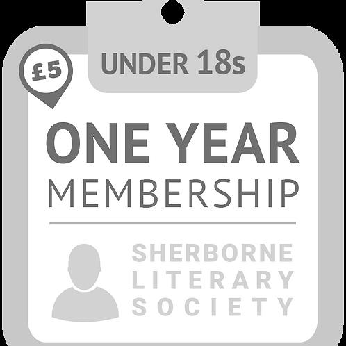 ONE YEAR UNDER 18s Membership of Sherborne Literary Society