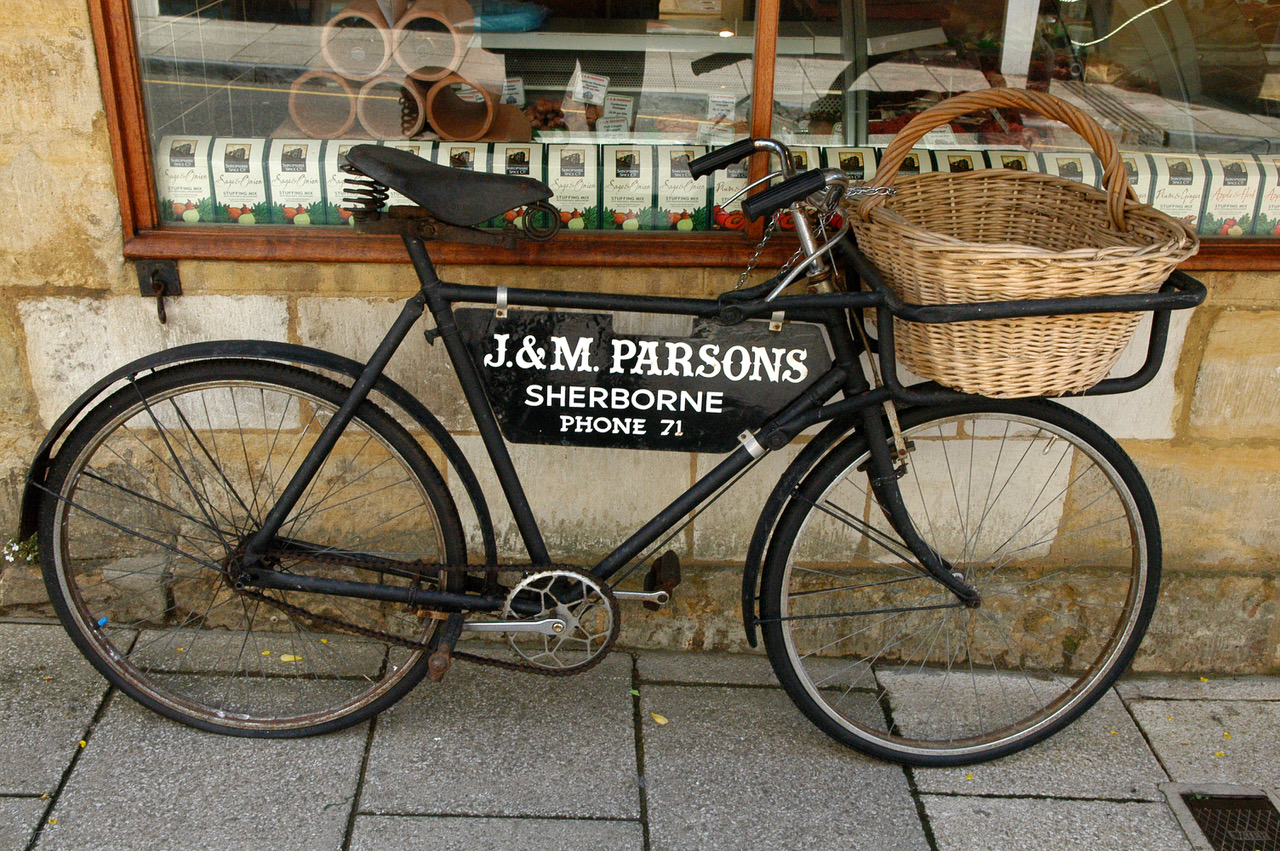 Sherborne old bicycle
