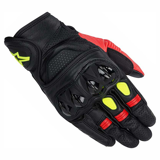 Alpinestars Celer Gloves - Black/Red/Yellow Fluro