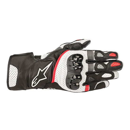 Alpinestars SP-2 V2 Leather Gloves - Black/White/Red